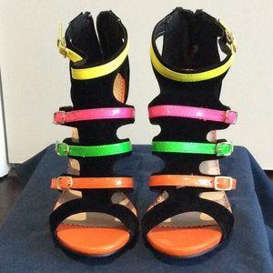 Alba Shoes - Women's mult colored high heels.